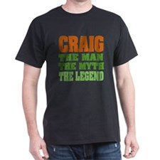 CRAIG - The Legend Black T-Shirt