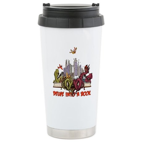 Delve into a Book Ceramic Travel Mug