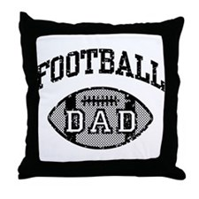 Football Dad Throw Pillow