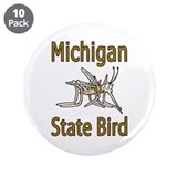 "Michigan State Bird 3.5"" Button (10 pack)"