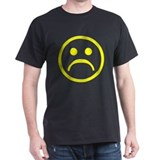 Yellow Frowny Face black T