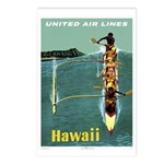 Vintage United Waikiki Poster Postcards (Package o