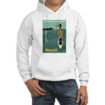 Vintage United Waikiki Poster Hooded Sweatshirt