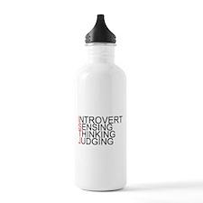 ISTJ Spelled Out Sports Water Bottle