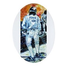"""Fencer USA"" Ornament (Oval)"