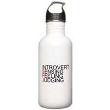 ISFJ Spelled Out Sports Water Bottle