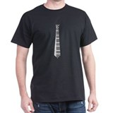 Keyboard Tie Black T-Shirt