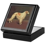 Vintage Borzoi Trinket Box