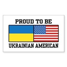 Ukrainian American Decal