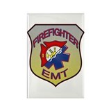 Firefighter EMT Badge Rectangle Magnet