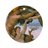 Sistine Chapel Adam & Eve Ornament (Round)