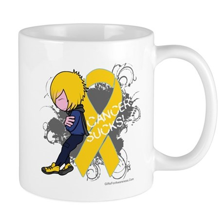 Childhood Cancer Sucks 2 Mug