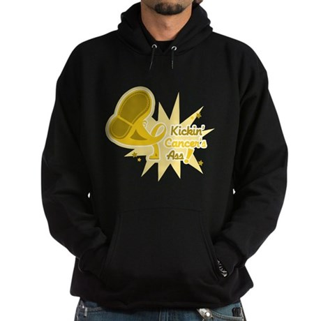 Kickin Childhood Cancer Ass Hoodie (dark)