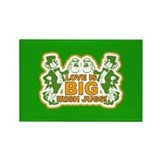 Big Irish Jugs St.Patrick's Day Rectangle Magnet (