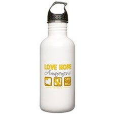 Childhood Cancer Love Hope Water Bottle