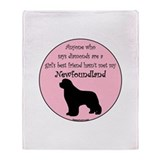 Girls Best Friend Throw Blanket