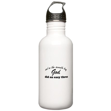 God did an easy three Stainless Water Bottle 1.0L