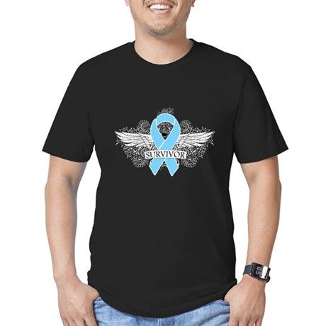 Tattoo Prostate Cancer Men's Fitted T-Shirt (dark)