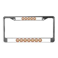 Gold Leaf Peace License Plate Frame