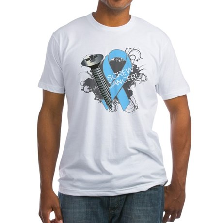 Screw Prostate Cancer Fitted T-Shirt