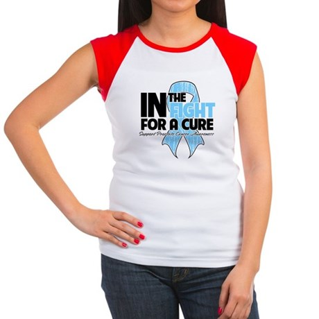 In The Fight Prostate Cancer Women's Cap Sleeve T-