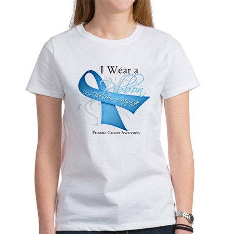 I Wear Ribbon Prostate Cancer Women's T-Shirt