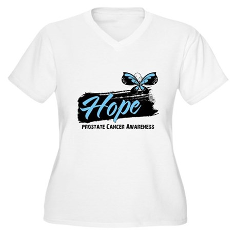 Hope - Prostate Cancer Women's Plus Size V-Neck T-