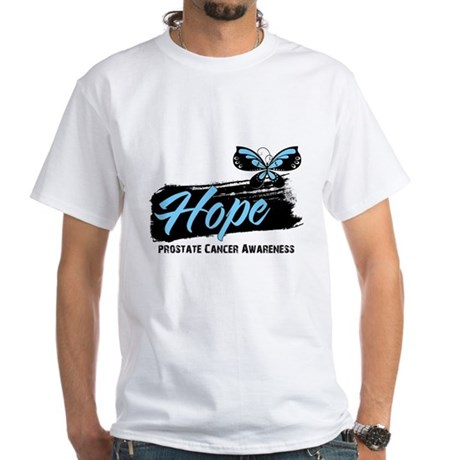 Hope - Prostate Cancer White T-Shirt
