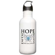 Hope Faith Prostate Cancer Sports Water Bottle