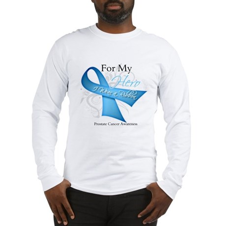 Hero Ribbon Prostate Cancer Long Sleeve T-Shirt