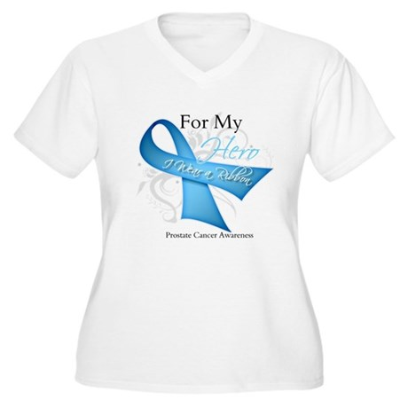 Hero Ribbon Prostate Cancer Women's Plus Size V-Ne