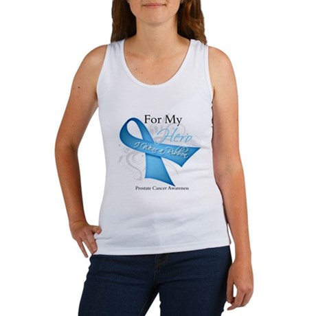 Hero Ribbon Prostate Cancer Women's Tank Top