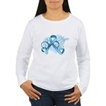 Hope Prostate Cancer Women's Long Sleeve T-Shirt