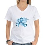 Hope Prostate Cancer Women's V-Neck T-Shirt