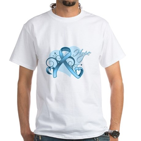Hope Prostate Cancer White T-Shirt