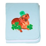 St Patty's Day Dachshund baby blanket