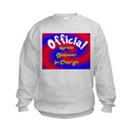 Groin Scanner In Charge Kids Sweatshirt