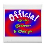 Groin Scanner In Charge Tile Coaster