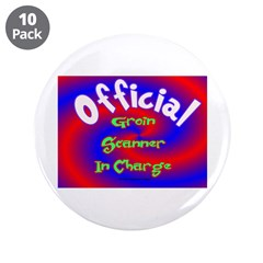 "Groin Scanner In Charge 3.5"" Button (10 pack)"