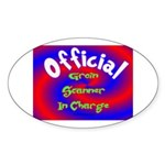 Groin Scanner In Charge Sticker (Oval 10 pk)