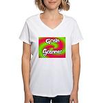 The Groin Scanner Women's V-Neck T-Shirt