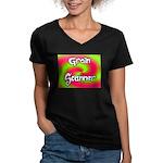 The Groin Scanner Women's V-Neck Dark T-Shirt