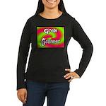The Groin Scanner Women's Long Sleeve Dark T-Shirt