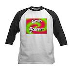 The Groin Scanner Kids Baseball Jersey