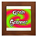 The Groin Scanner Framed Tile