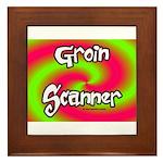 The Groin Scanner Framed Tile