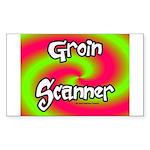 The Groin Scanner Sticker (Rectangle)