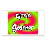 The Groin Scanner Sticker (Rectangle 10 pk)