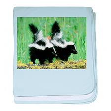 Two Skunks baby blanket