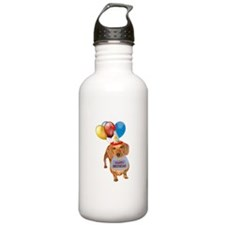 Red Doxie Birthday Water Bottle